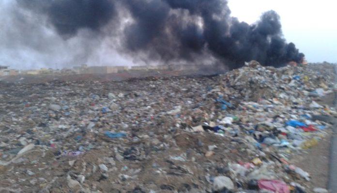 Urgent: Un violent incendie est en train de dévorer la décharge de Mbeubeuss