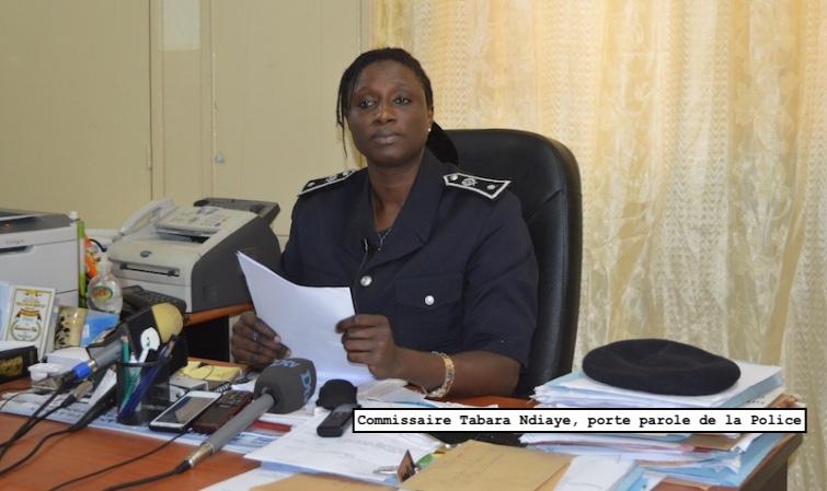 LA RÉACTION OFFICIELLE DE LA POLICE