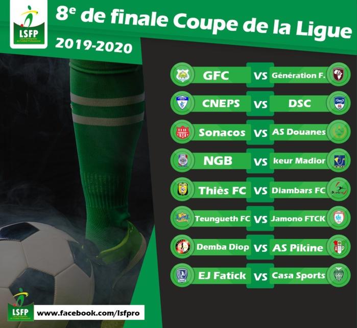 Tirage 8ème de finale Coupe de la Ligue : Le deuxième acte prévu à partir du 11 février prochain…