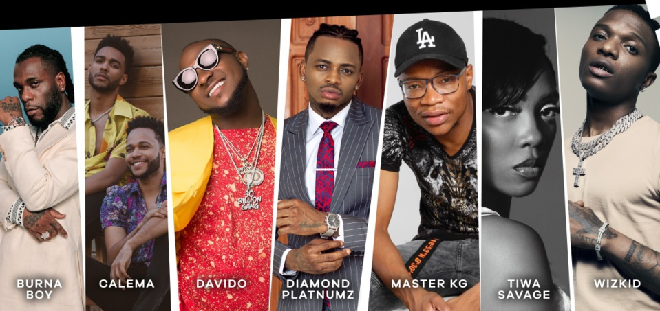 MTV Africa Music Awards 2021 : OMG, Davido, Diamond, Yemi Alade, Innoss'B, Dip Doundou Guiss (Sénégal),Tiwa Savage, Master KG et Burna Boy nominés