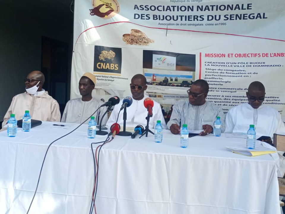 POINT DE PRESSE DE l'ASSOCIATION NATIONALE DES BIJOUTIERS DU SENEGAL