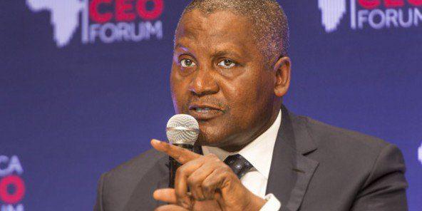 Le groupe du milliardaire nigérian Aliko Dangote avait lancé la construction d'une cimenterie pour un coût de 180 milliards de francs CFA (275 millions d'euros)