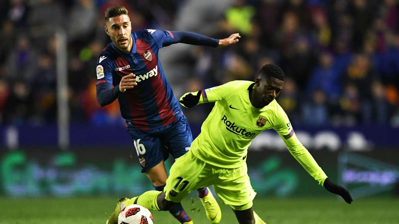 COPA DEL REY 1/8 DE FINALE ALLER  : Levante - Barça  2 - 1, un piètre Barça sans Messi trébuche en Coupe (match aller)