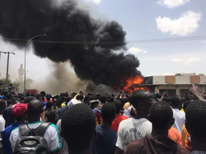 INCENDIE AU MARCHE OCASS DE TOUBA: Une dizaine de cantines partent en fumée, les dégâts estimés à plusieurs centaines de millions Cfa
