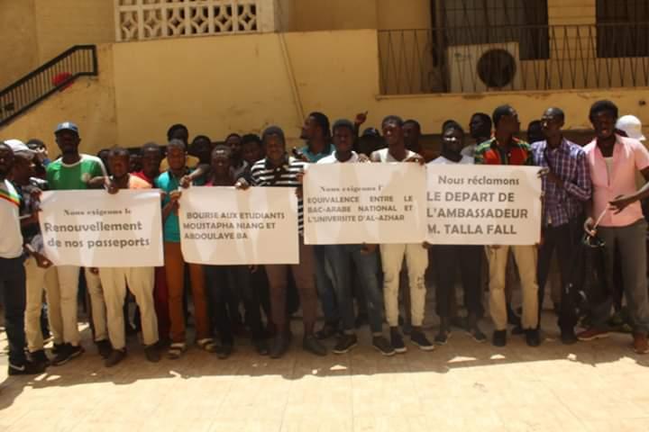 APRES AVOIR FAIT LE SIEGE DE L'AMBASSADE ET MANIFESTE LEUR COLERE: Les étudiants sénégalais établis au Caire étalent leur mal-vivre et exigent le départ de l'ambassadeur