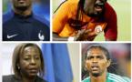 Le ministres rwandais des affaires étrangères, Nwanko Kanu, Bafé Gomis...félicitent les lions