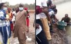 Visite de fermes aquacoles : Tamsir Faye et Tening Sene à Sédhiou