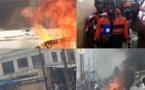Ça chauffe au marché Hlm, des commerçants en colère mettent le feu sur les lieux