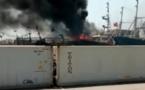 Port de Dakar : Un bateau prend feu